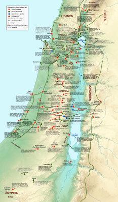 Israel bibel landkarte International Bible